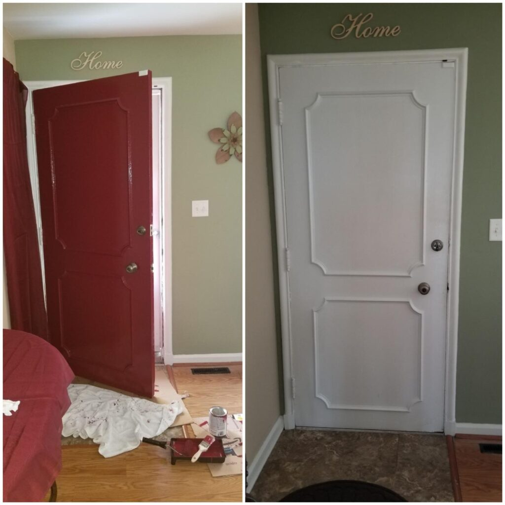 these are the results after painting our door and interior trim with the Best Paint For Doors And Trim