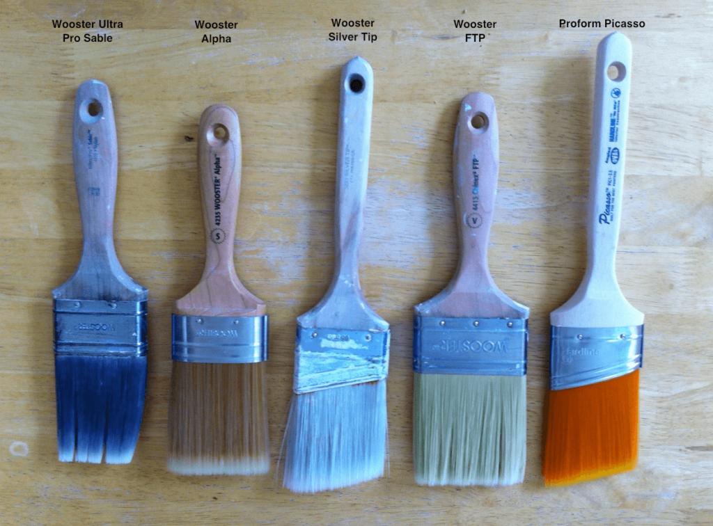 different trim brushes