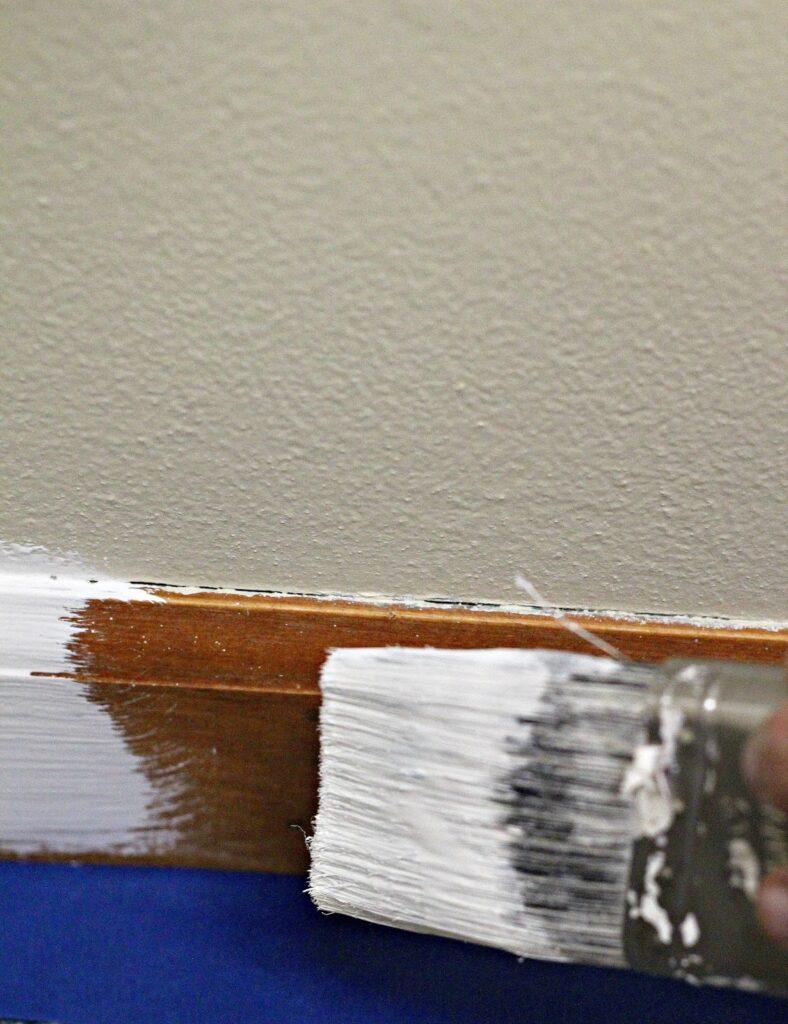 painting trim white