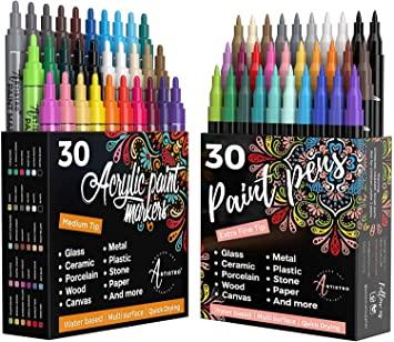 acrylic paint pens for pumpkins