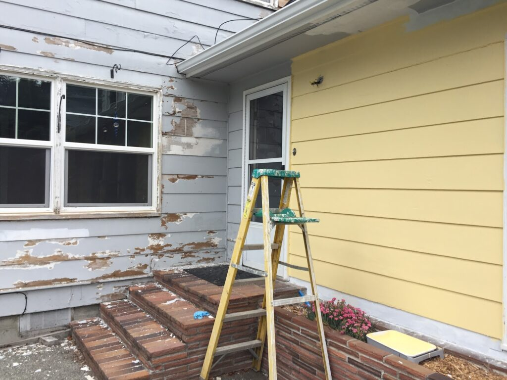 stripping exterior paint
