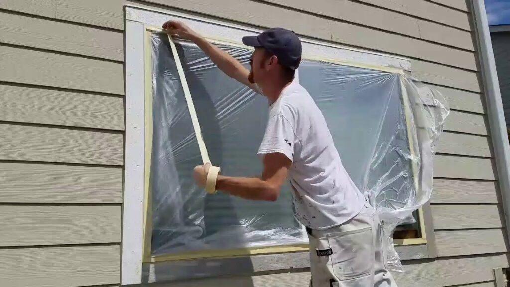 interior and exterior painting windows