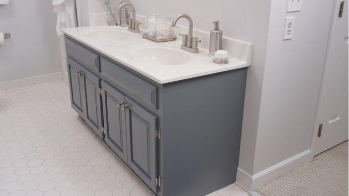 how to paint bathroom vanity